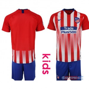 18-19 SEASON JERSEY Atletico Madrid home kids アトレティコ/マドリード ユニフォーム 長袖 セット ホーム Atletico Madrid home kids red blank red レッド 赤 kids キッズ サッカースパイク