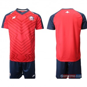 18-19 SEASON JERSEY Lille OSC home LOSCリール/メトロポール ユニフォーム ホーム 半袖セット Lille OSC home blank red red レッド 赤 メンズ サッカースパイク
