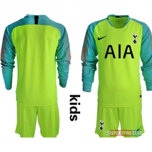 HOT!!! Premier League Tottenham Hotspur Football Club goalkeeper long sleeve トッテナム?ホットスパーFC ユニフォーム 長袖 セット ゴールキーパー Hotspur fluorescent green goalkeeper long kids blank fluorescent green 蛍光グリーン kids キッズ サッカースパイク