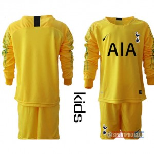HOT!!! Premier League Tottenham Hotspur Football Club goalkeeper long sleeve トッテナム?ホットスパーFC ユニフォーム 長袖 セット ゴールキーパー Hotspur yellow goalkeeper long kids blank yellow イェロー 黄 kids キッズ サッカースパイク