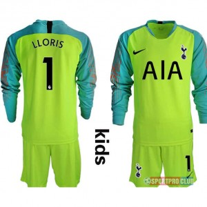 HOT!!! Tottenham Hotspur Football Club goalkeeper #1 LLORIS long sleeve トッテナム?ホットスパーFC ユニフォーム 長袖 セット ゴールキーパー Hotspur fluorescent green goalkeeper long kids 1 fluorescent green 蛍光グリーン kids キッズ サッカースパイク