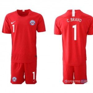 Chile home 1# チリユニフォーム ホーム 半袖 レプリカ セット Chile home red 1 red レッド 赤 mens メンズ サッカースパイク