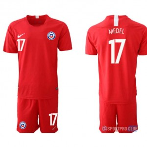 Chile home 17# チリユニフォーム ホーム 半袖 レプリカ セット Chile home red 17 red レッド 赤 mens メンズ サッカースパイク