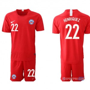 Chile home 22# チリユニフォーム ホーム 半袖 レプリカ セット Chile home red 22 red レッド 赤 mens メンズ サッカースパイク
