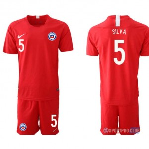 Chile home 5# チリユニフォーム ホーム 半袖 レプリカ セット Chile home red 5 red レッド 赤 mens メンズ サッカースパイク