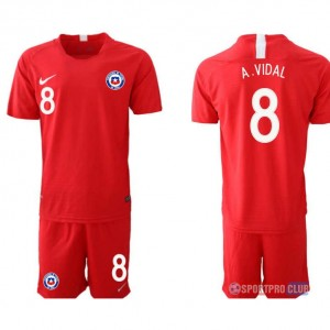 Chile home 8# チリユニフォーム ホーム 半袖 レプリカ セット Chile home red 8 red レッド 赤 mens メンズ サッカースパイク