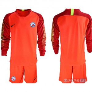chile red goalkeeper long sleeve チリ ユニフォーム アウェイ 長袖 レプリカ セット ゴールキーパー chile long red blank red レッド 赤 mens メンズ サッカースパイク