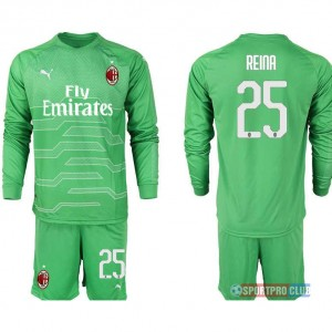 AC milan green goalkeeper long sleeve 25# ACミラン 長袖 レプリカ セット ゴールキーパー jersey AC Long green 25 Green グリーン 緑 mens メンズ サッカースパイク