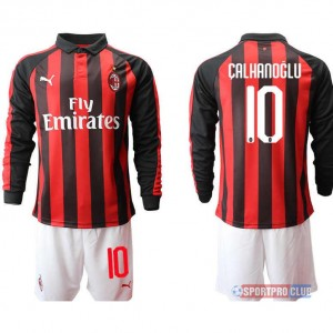 AC milan home long sleeve 10# ACミラン ホーム 長袖 レプリカ セット jersey AC Long 10 Red/White レッド/ホワイト 赤/白 mens メンズ サッカースパイク