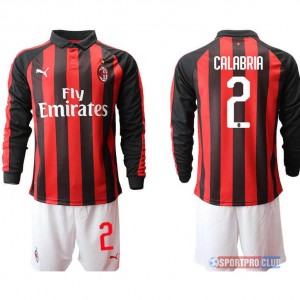 AC milan home long sleeve 2# ACミラン ホーム 長袖 レプリカ セット jersey AC Long 2 Red/White レッド/ホワイト 赤/白 mens メンズ サッカースパイク