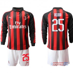 AC milan home long sleeve 25# ACミラン ホーム 長袖 レプリカ セット jersey AC Long 25 Red/White レッド/ホワイト 赤/白 mens メンズ サッカースパイク