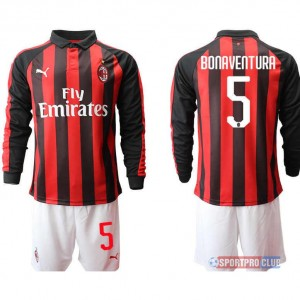 AC milan home long sleeve 5# ACミラン ホーム 長袖 レプリカ セット jersey AC Long 5 Red/White レッド/ホワイト 赤/白 mens メンズ サッカースパイク