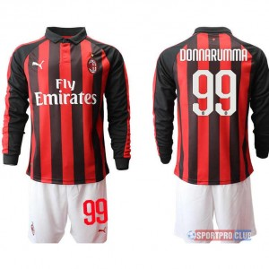 AC milan home long sleeve 99# ACミラン ホーム 長袖 レプリカ セット jersey AC Long 99 Red/White レッド/ホワイト 赤/白 mens メンズ サッカースパイク