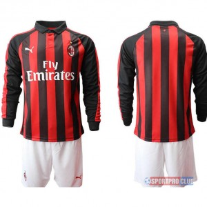 AC milan home long sleeve ACミラン ホーム 長袖 レプリカ セット jersey AC Long Red/White レッド/ホワイト 赤/白 mens メンズ サッカースパイク