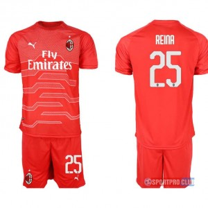 AC milan red goalkeeper 25# プーマACミラン 半袖 レプリカ セット jersey AC red 25 Red レッド 赤 mens メンズ サッカースパイク