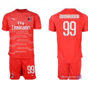 AC milan red goalkeeper 99# プーマACミラン 半袖 レプリカ セット jersey AC red 99 Red レッド 赤 mens メンズ サッカースパイク