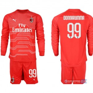 AC milan red goalkeeper long sleeve 99# ACミラン 長袖 レプリカ セット ゴールキーパー jersey AC Long red 99 Red レッド 赤 mens メンズ サッカースパイク