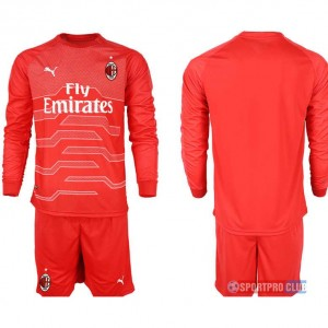 AC milan red goalkeeper long sleeve ACミラン 長袖 レプリカ セット ゴールキーパー jersey AC Long red Red レッド 赤 mens メンズ サッカースパイク