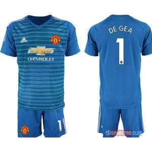Manchester United blue goalkeeper 1# アディダスマンチェスターユナイテッド 半袖 レプリカ ゴールキーパー セット jersey Manchester blue 1 Blue ブルー 青 mens メンズ サッカースパイク