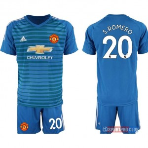 Manchester United blue goalkeeper 20# アディダスマンチェスターユナイテッド 半袖 レプリカ ゴールキーパー セット jersey Manchester blue 20 Blue ブルー 青 mens メンズ サッカースパイク