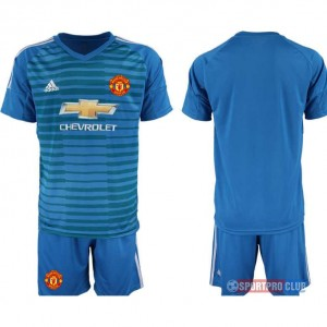 Manchester United blue goalkeeper アディダスマンチェスターユナイテッド 半袖 レプリカ ゴールキーパー セット jersey Manchester blue Blue ブルー 青 mens メンズ サッカースパイク