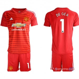 Manchester United red goalkeeper 1# アディダスマンチェスターユナイテッド 半袖 レプリカ ゴールキーパー セット jersey Manchester red 1 Red レッド 赤 mens メンズ サッカースパイク