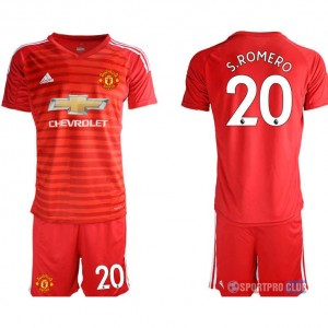 Manchester United red goalkeeper 20# アディダスマンチェスターユナイテッド 半袖 レプリカ ゴールキーパー セット jersey Manchester red 20 Red レッド 赤 mens メンズ サッカースパイク