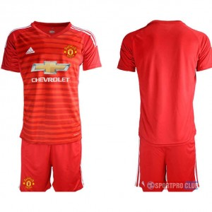 Manchester United red goalkeeper アディダスマンチェスターユナイテッド 半袖 レプリカ ゴールキーパー セット jersey Manchester red Red レッド 赤 mens メンズ サッカースパイク